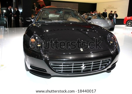 Paris Motor Show 4-19 October 2008: the Ferrari 612 Scaglietti