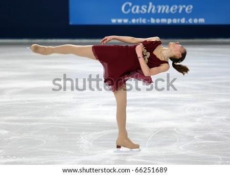 PARIS - NOVEMBER 26: Fumie SUGURI of Japan performs at ladies free skating event of the ISU Grand Prix Eric Bompard Trophy, November 26, 2010 at Palais-Omnisports de Bercy, Paris, France.