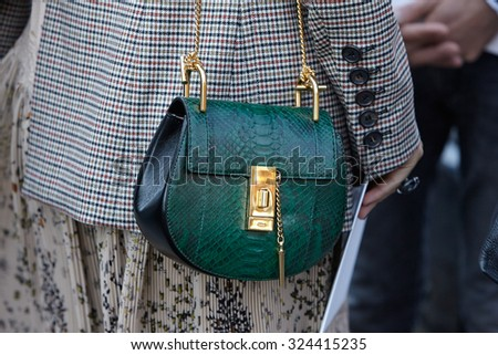 chloie bags - Paris - October 1: Green Leather Chloe Bag Before Chloe Show ...