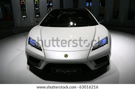 PARIS - OCTOBER 14: Lotus Esprit Concept at the Paris Motor Show 2010 at Porte de Versailles, on October 14, 2010 in Paris, France