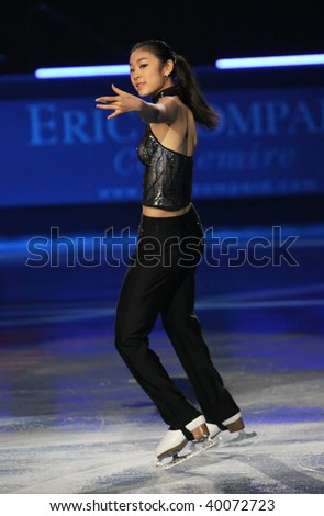 PARIS - OCTOBER 18: Yu-Na KIM of Korea performs at the Gala event of the ISU Grand Prix Eric Bompard Trophy October 18, 2009 at Palais-Omnisports de Bercy, Paris, France.
