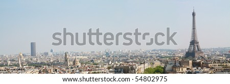 Paris, panoramic view