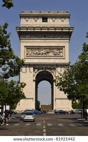 Paris, Place Etoile with Arc de Triumph