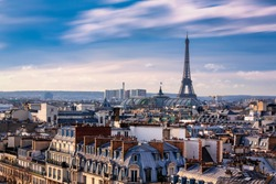 Paris rooftops. Eiffel Tower, Paris, France
