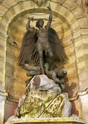 Paris - Saint Michael fountain