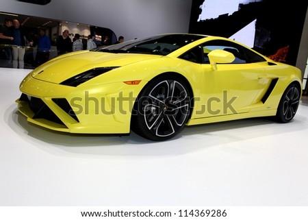 PARIS - SEPTEMBER 30: The Lamborghini Gallardo LP 560-4 displayed at the 2012 Paris Motor Show on September 30, 2012 in Paris