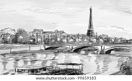 paris street   illustration