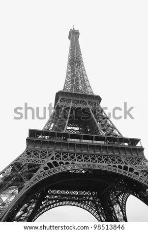 Paris Symbol, Tour Eiffel in a black and white shot