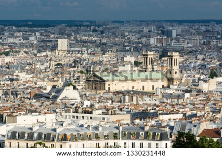 Paris the crowded vintage city of France