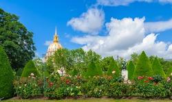 Paris. The garden of the Rodin Museum.
