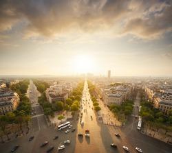 Paris view from Arc de Trimphe