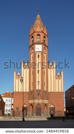 Parish church of Blessed Virgin Mary Queen of Poland in Znin. Poland #1484459858