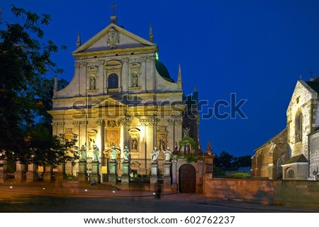 Parish Church of St. Peter and Paul in Krakow, Poland, Europe #602762237