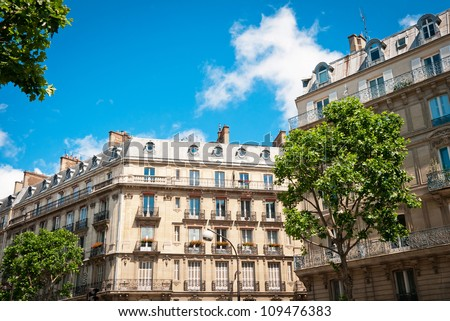 Parisian building, France