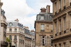 Parisian cityscape of classic architecture and buildings