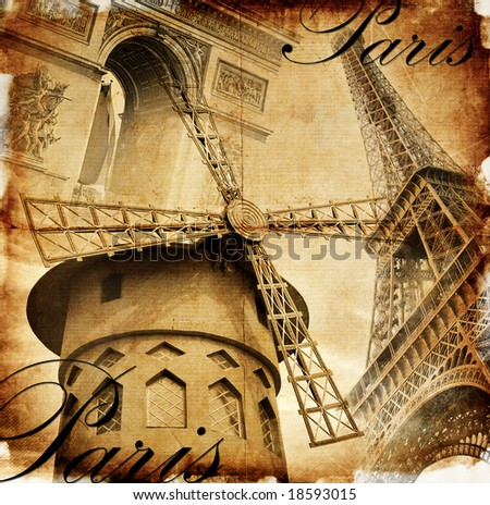 Parisian details - toned picture in retro style