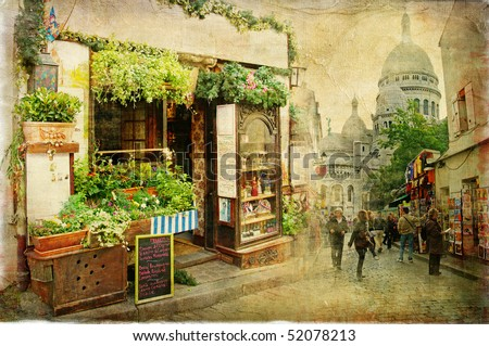 parisian streets   montmartre