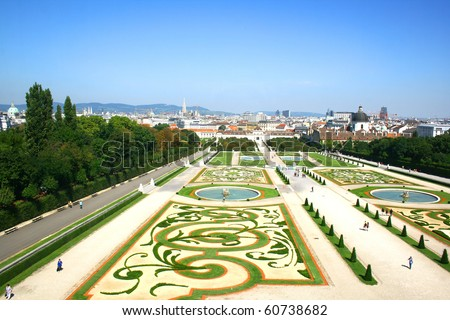 Park Belvedere in Vienna