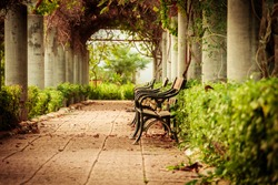 Park Bench in vintage style