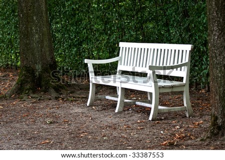 Park Benches at the palace garden in Schwetzingen, Germany