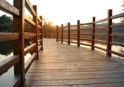Park boardwalk bridge