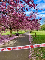 Park closed from coronavirus and social distancing fears by police