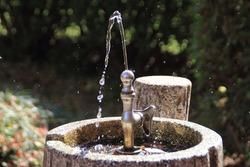 Park faucet, water from faucet, landscape, Japan