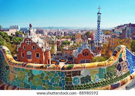 Park Guell in Barcelona. Photo stock ©