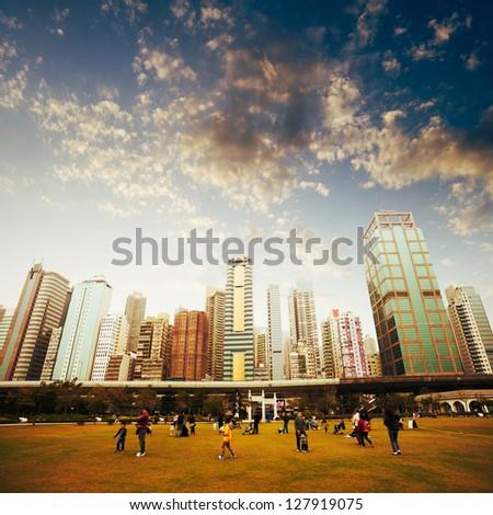 Park in Hong Kong, China