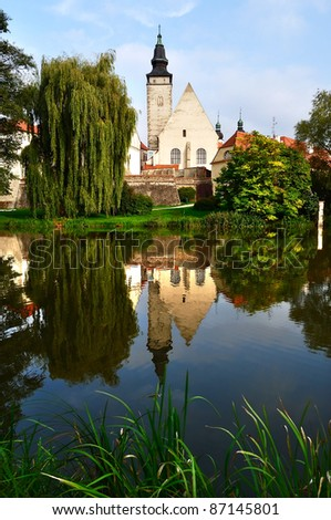 Park in Telc town, Czech Republic
