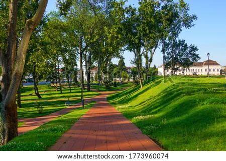 Park in the center of Virovitica, Slavonia Region