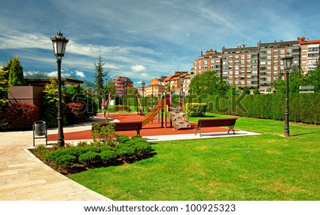 Park in the city in Oviedo, Spain