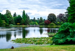 park, lake and gardens in UK.