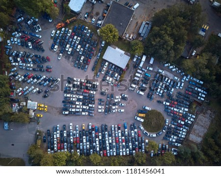Park of cars from above #1181456041