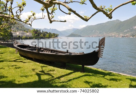 Park of Villa Melzi in Bellagio at the famous Italian lake Como