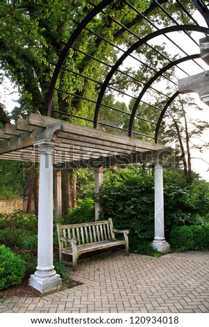 Park Pavilion And Bench, Ault Park, Cincinnati, Ohio