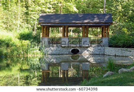 Park Pavilion with Pond