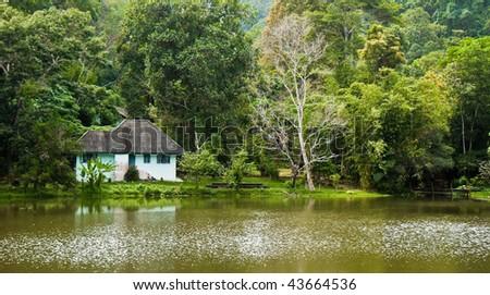 Park Ranger House on a Lake in Phuket, Thailand.