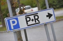 Park & Ride sign on the street