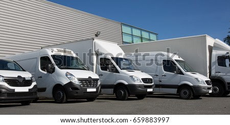 park society specialized delivery with small trucks and van #659883997