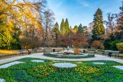 Park surrounding Vrana palace in Sofia, Bulgaria