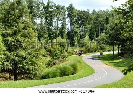 Park walking path - Shutterstock ID 617344