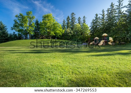 Park with playground background