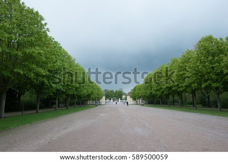 Park with trees in Germany, Adelsheim - Shutterstock ID 589500059