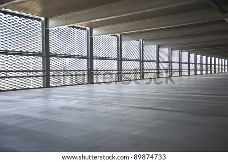 parkdeck with metal wall
