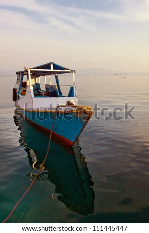 Parked Resort Boat in Flores, Indonesia