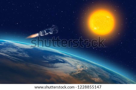Parker Solar Probe approaching the sun