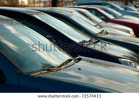 Parking cars in a row