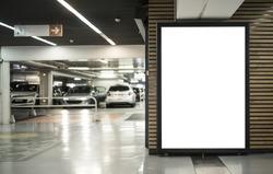 parking garage abri or kiosk mockup