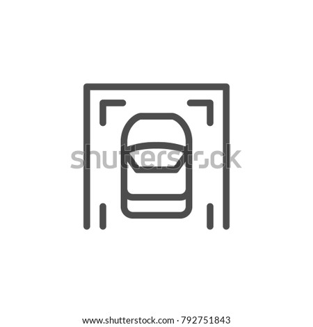 Parking line icon isolated on white